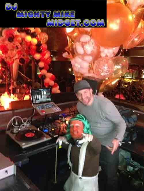 Find a Midget Dj Mighty Mike, Los Angeles at Grey stone Manor night club.