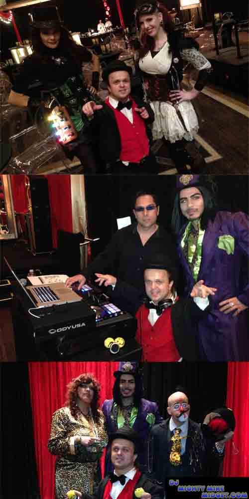 Djin Mini Ring Master Midget Hire for Juggling with Circus Performers at Cosmopolitan Las Vegas.